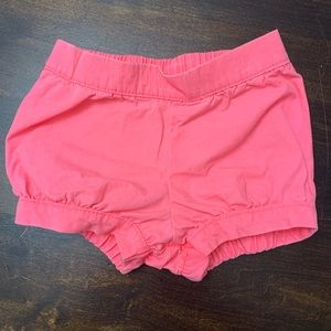 Bright Pink Baby Girl Shorts 6 Months